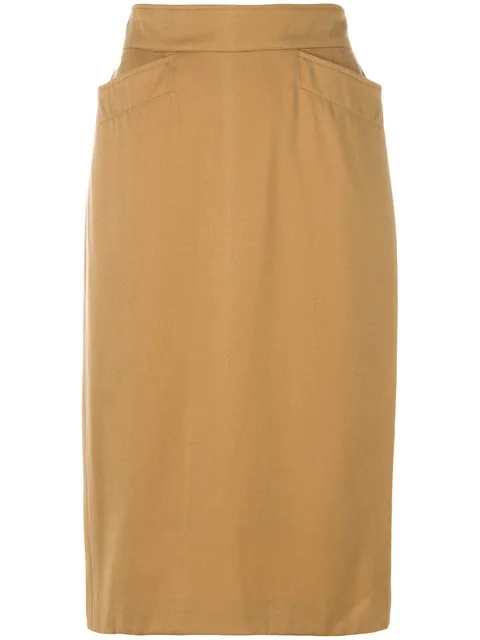 Kenzo Fitted Pencil Skirt In Neutrals
