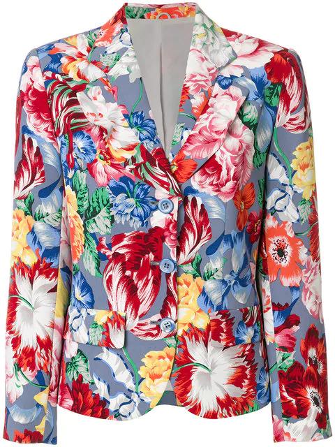 Kenzo Floral Blazer In Multicolour