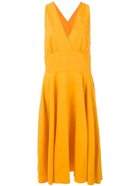 Saint Laurent Mid-length Dress In Orange