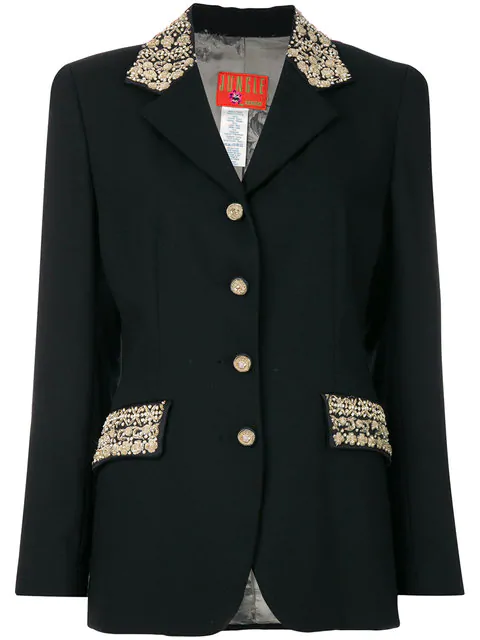 Kenzo Bead Embroidered Detailed Jacket In Black