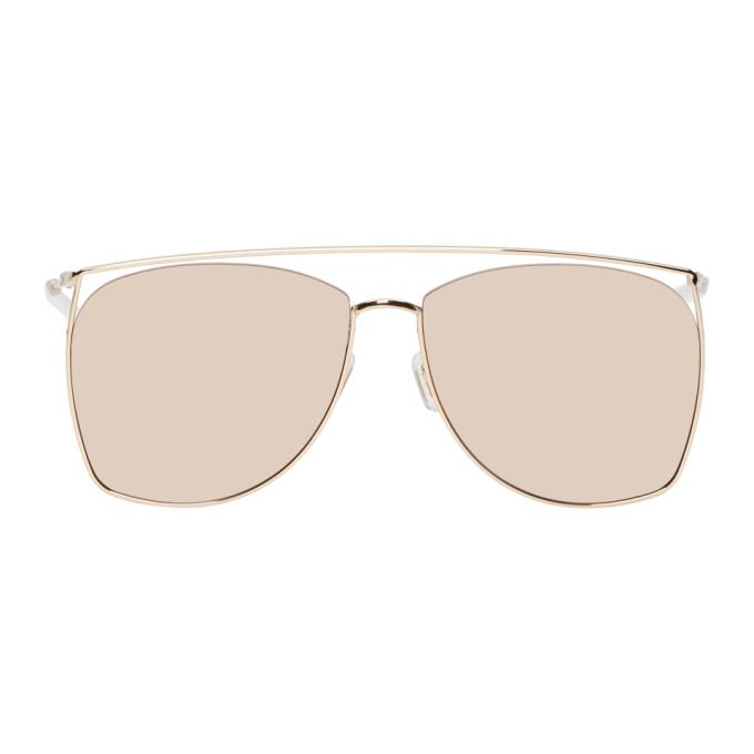 857dd5a1401a Gentle Monster Gold Tick Tock Sunglasses In 032(14M)Gld