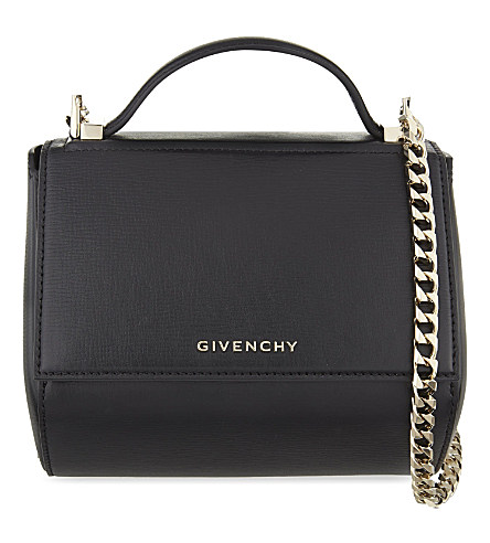 Givenchy Pandora Mini Leather Shoulder Bag In Nude