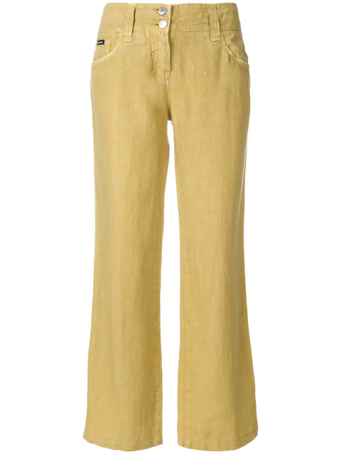Dolce & Gabbana Pre-Owned Bootcut Cropped Trousers - Neutrals