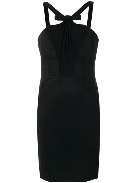 Versace Bow Dress In Black