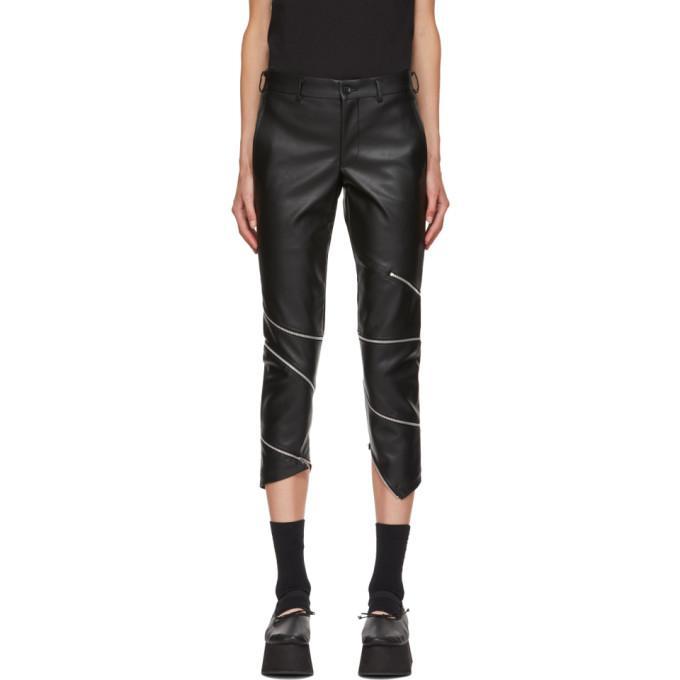 2f0c0295258 Comme Des GarÇOns Homme Deux Black Faux-Leather Skinny Trousers In 1 Black