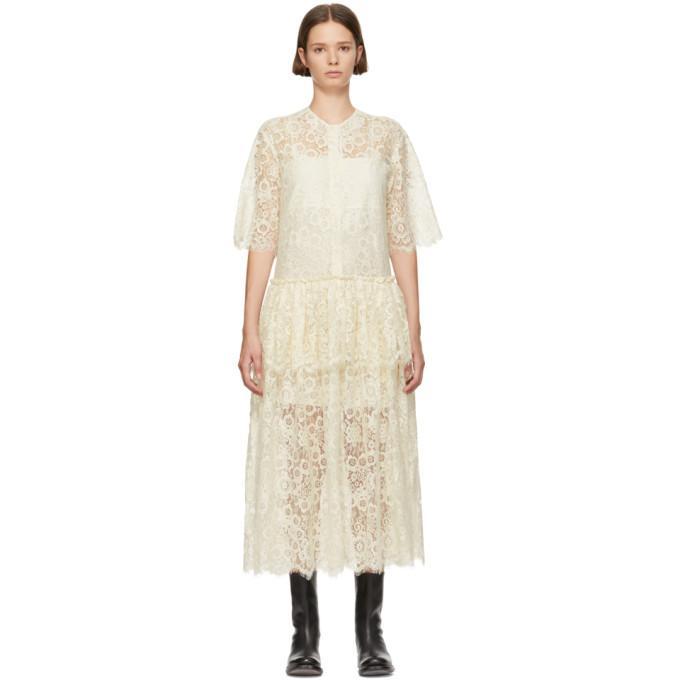 9cb9c59c0f1 SARA LANZI WHITE LACE DRESS