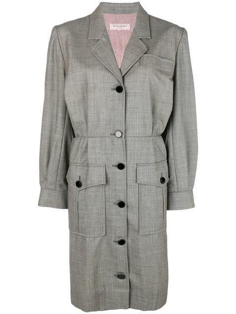 Saint Laurent Blazer Dress In Grey