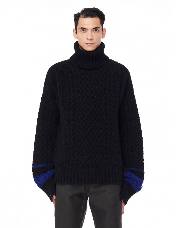 Haider Ackermann Black Borago Turtleneck In Borago Blk