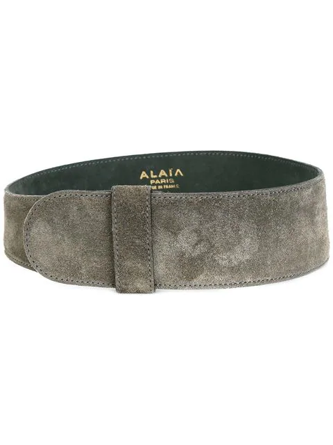 Alaïa Breiter Wildledergürtel In Grey