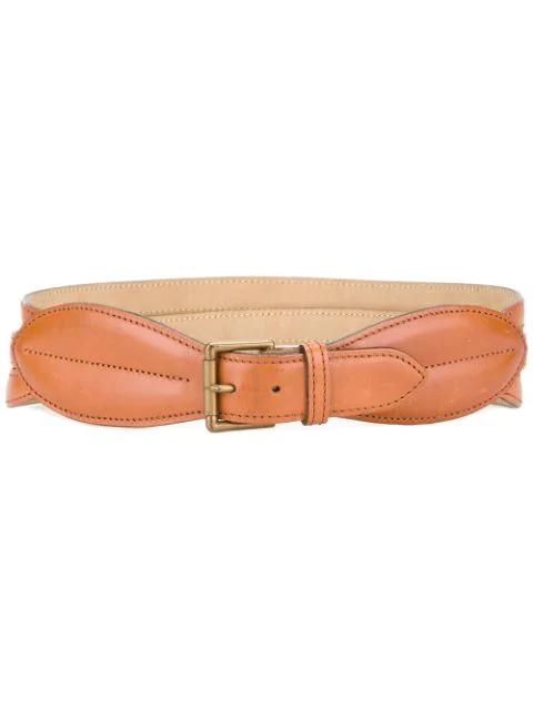 Alaïa Three Straps Belt In Brown