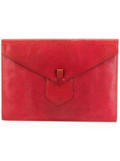 Saint Laurent Clutch Bag In Red