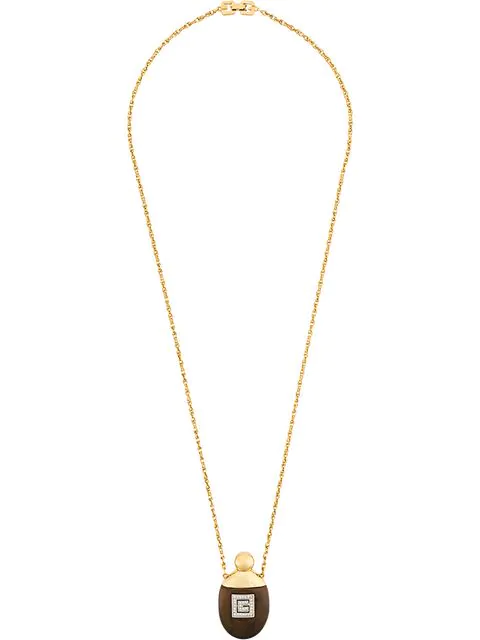 Givenchy 1980's Pendant Necklace In Yellow