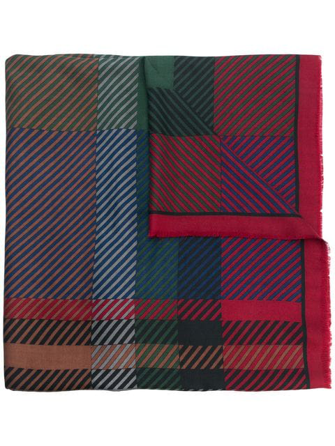 Dior Pre-owned Checked Scarf In Multicolour