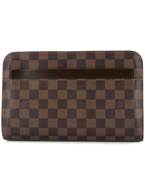 Louis Vuitton Pre-Owned Saint Louis Zipped Clutch - Brown
