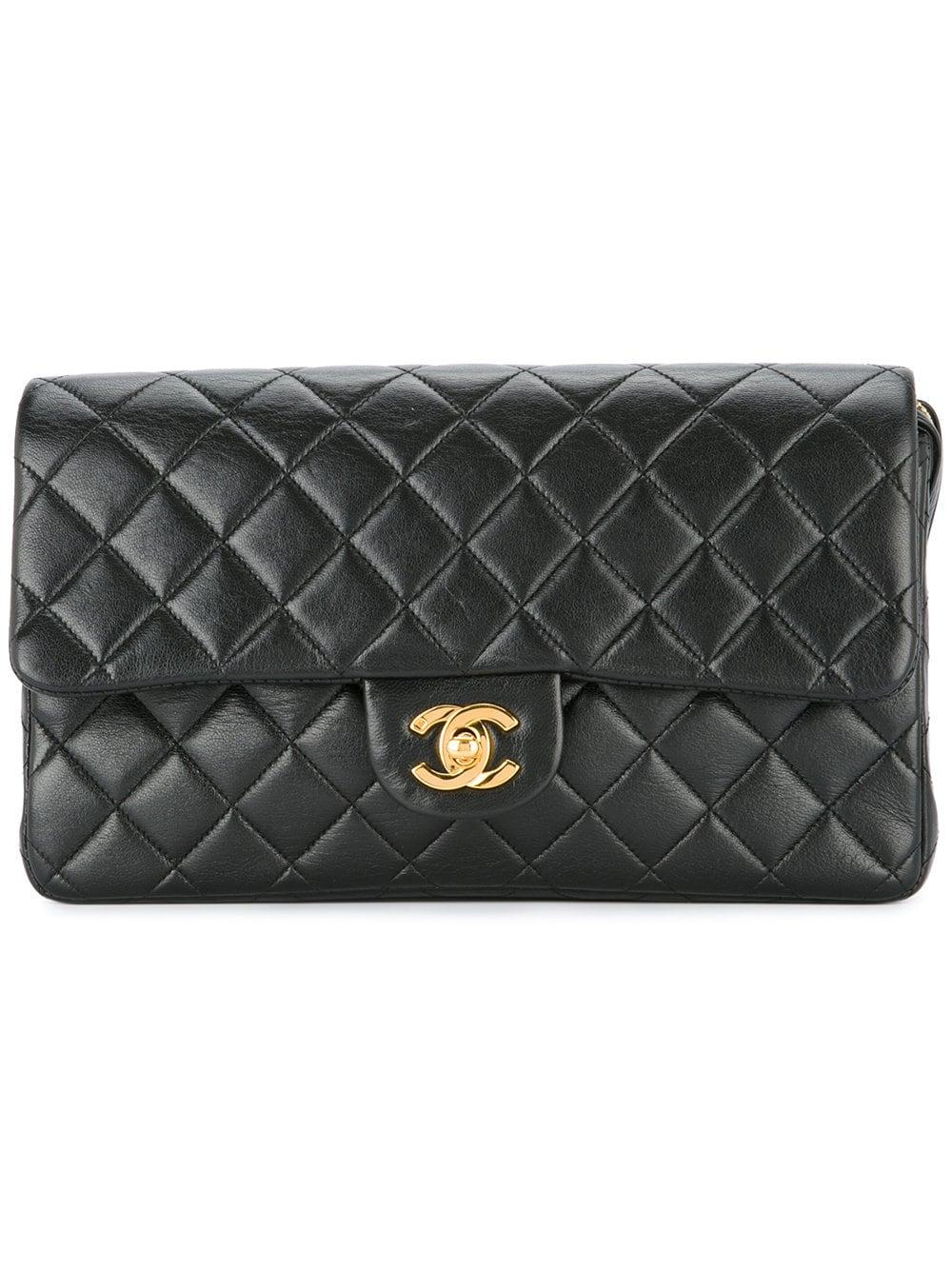 8b9839fc54c5 Chanel Vintage Quilted Backpack - Farfetch In Black | ModeSens