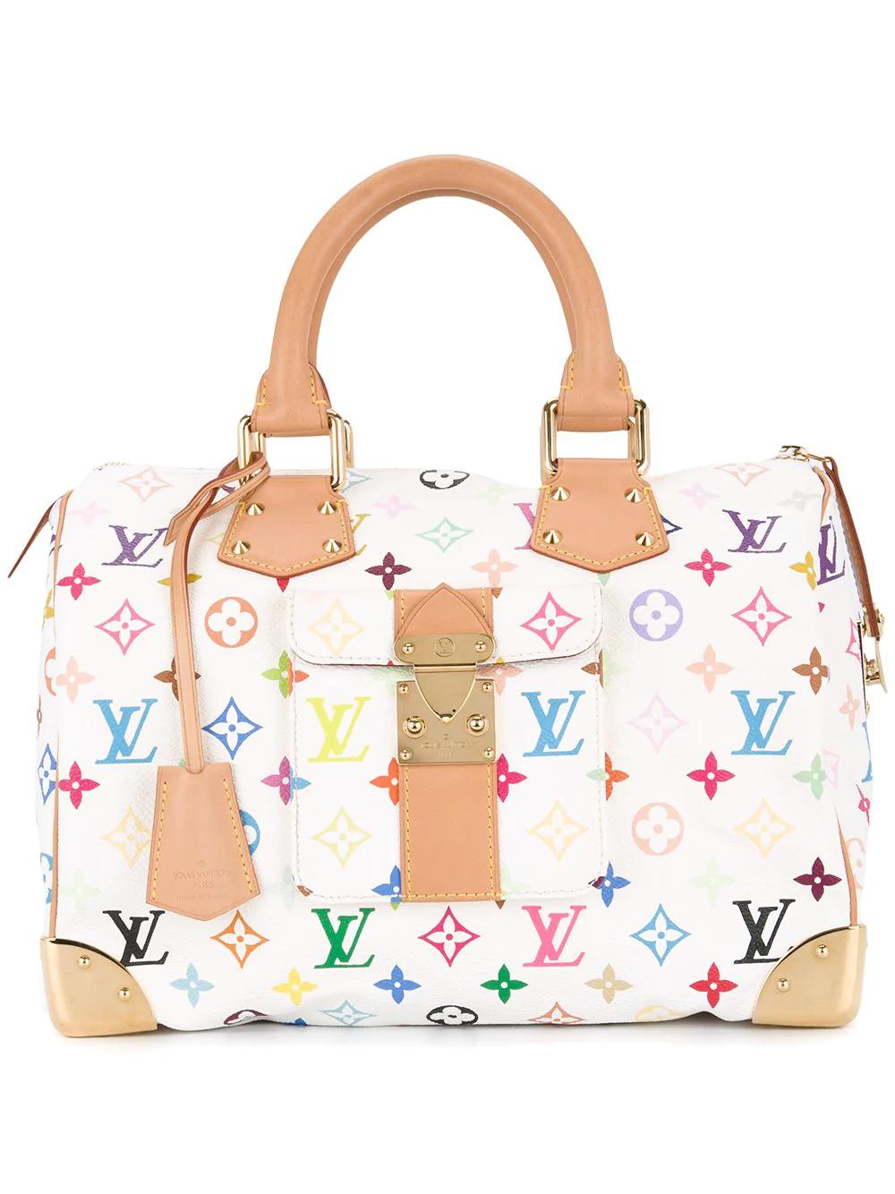 Louis Vuitton Vintage Speedy 30 Handbag - White | ModeSens