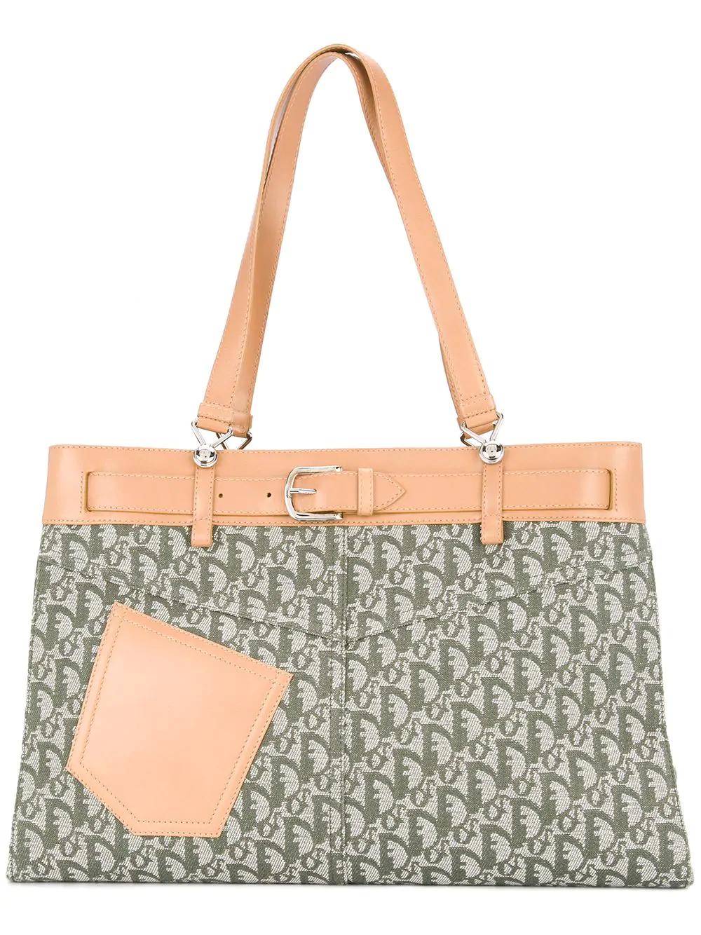 4a8c4e095 Dior Christian Vintage Trotter Shoulder Bag - Green | ModeSens