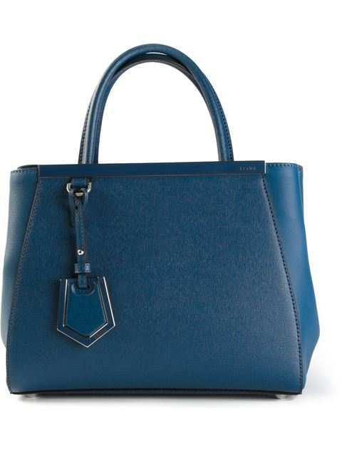 Fendi Small '2Jours' Tote In Blue