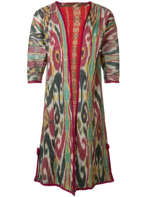 Pre-owned A.n.g.e.l.o. Vintage Cult Uzbekistan Tunic In Multicolour