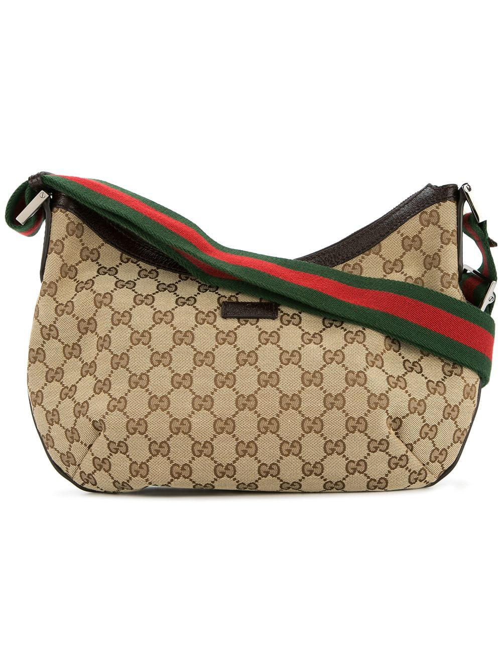 605a69bcc24f Gucci Vintage Gg Shelly Line Bag - Brown | ModeSens