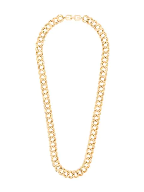 Givenchy Pre-Owned 1980S Double Chain Link Necklace - Gold