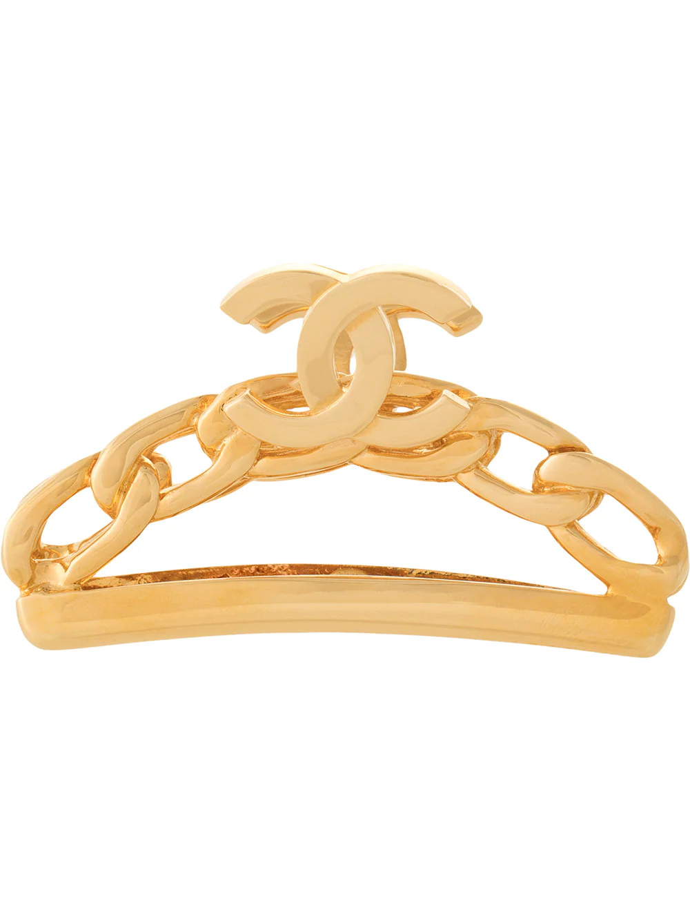 8d9e1c212741 Chanel Vintage Cc Logo Hair Clip - Farfetch In Metallic | ModeSens