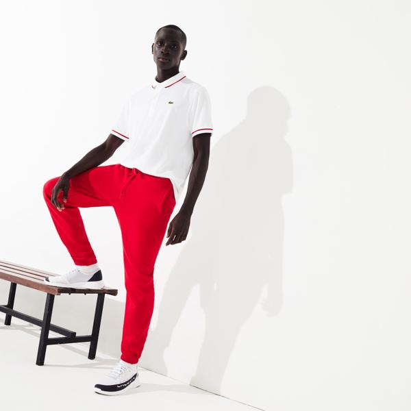 Lacoste Men's Sport Tennis Trackpants In Fleece In Red