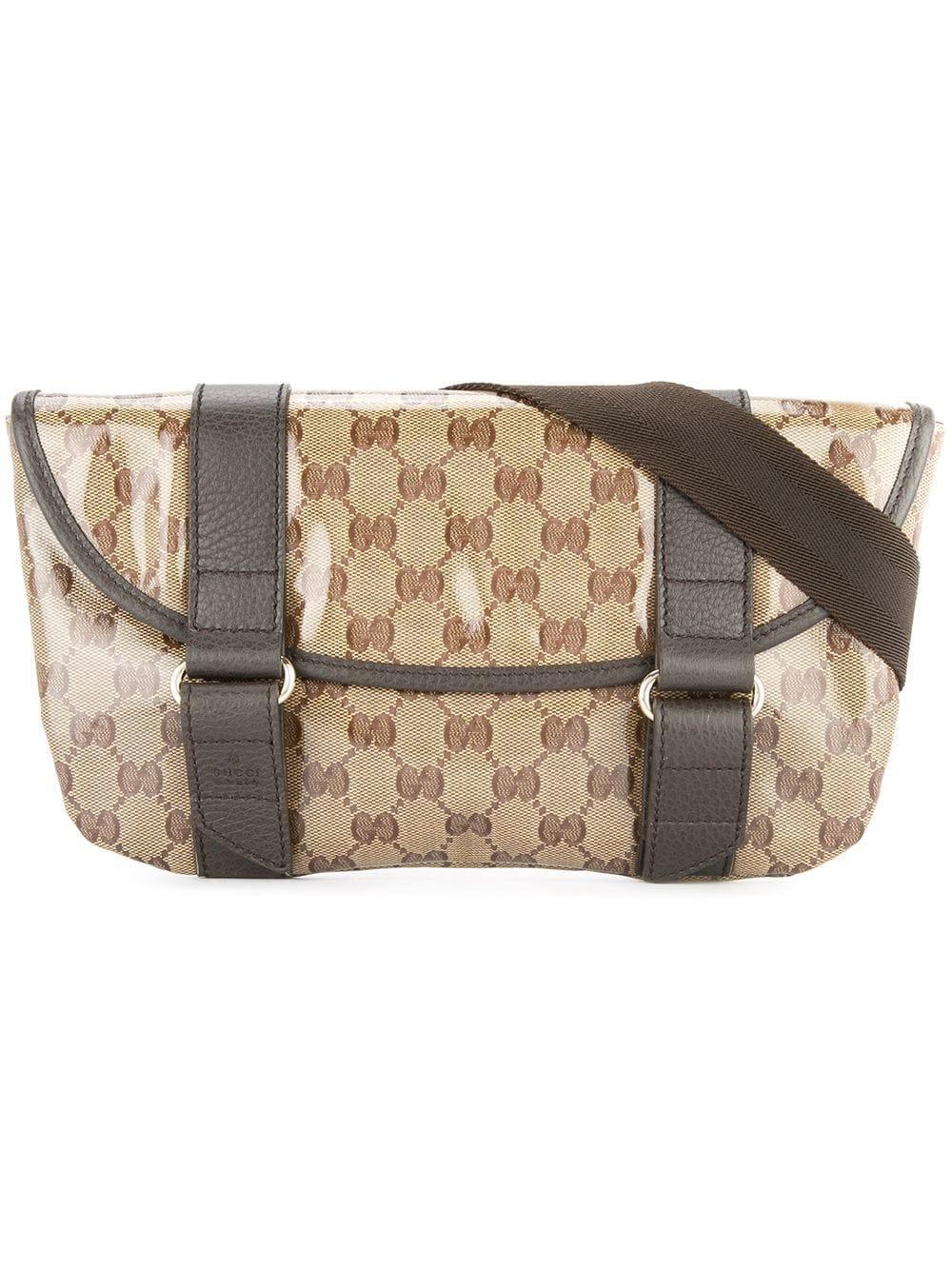 360b8212afc Gucci Gg Pattern Waist Bum Bag In Brown