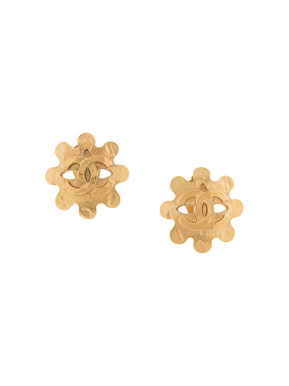 020ac0093d1a Chanel Vintage Cc Logos Earrings - Farfetch In Metallic | ModeSens