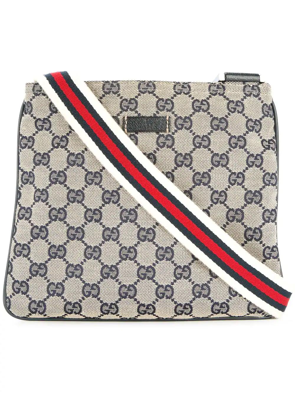 d18d0321e41 Gucci Vintage Gg Shelly Line Cross Body Shoulder Bag - Brown