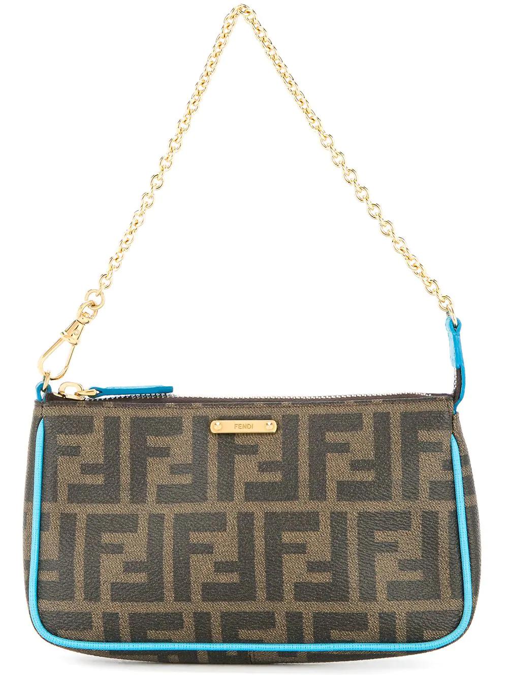 4b35f40c055 Fendi Vintage Zucca Pattern Chain Hand Bag - Brown | ModeSens