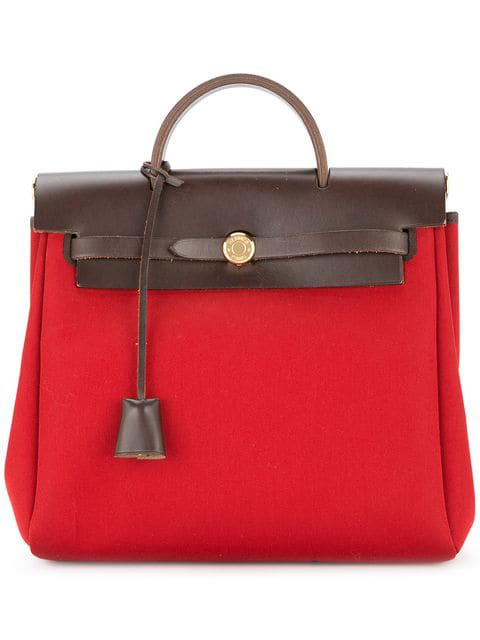 Hermes 2004 Pre-owned Her Bag Ado Pm 2 In 1 Backpack Bag In Red