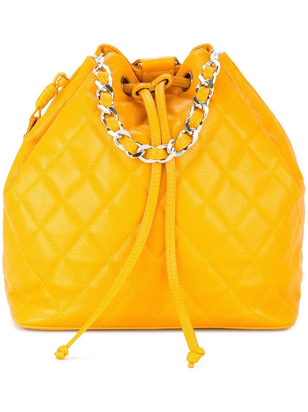 5b06a3a05817 Chanel Vintage Cc Chain Backpack Handbag - Farfetch In Orange | ModeSens