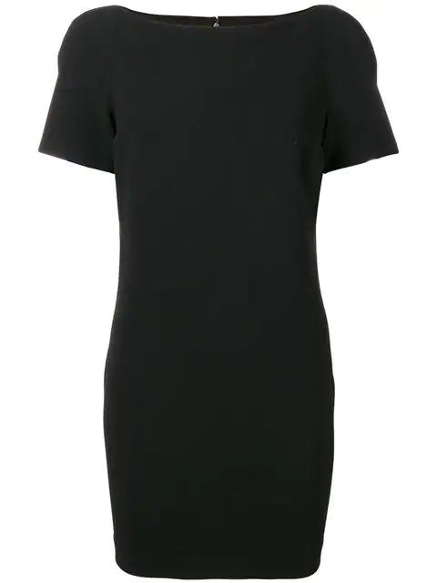 Versace 1990's Mini Dress In Black
