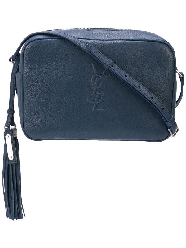 5a1157cfac6c95 Saint Laurent Medium Lou Monogram Leather Camera Bag In Blue | ModeSens