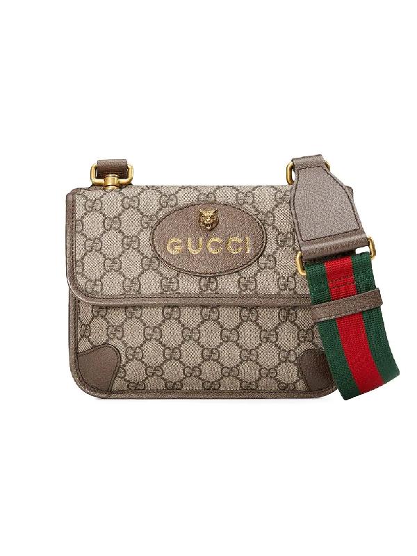 066e20f40223 Gucci Vintage Supreme Canvas Shoulder Bag In Neutrals | ModeSens