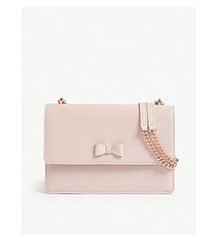 d6f246178 Ted Baker Delila Bow Detail Leather Cross-Body Bag In Light Pink ...