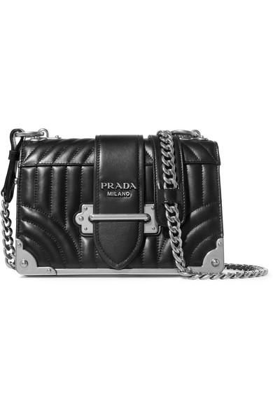cf673720e54c Prada Cahier Quilted Leather Shoulder Bag In Black | ModeSens
