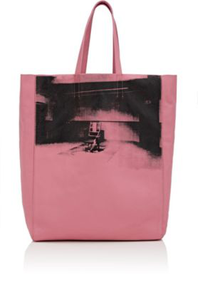 Calvin Klein 205W39Nyc Graphic Leather Tote Bag - Rose