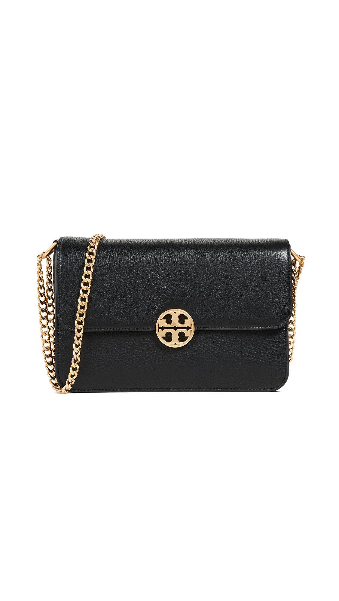 bc82baa99e0e Tory Burch Chelsea Shoulder Bag In Black | ModeSens