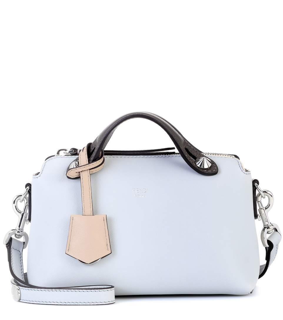 239a74bbfd0 Fendi By The Way Mini Leather Shoulder Bag In Blue | ModeSens