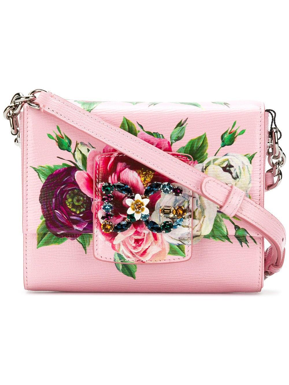 128ffe31e144 Dolce   Gabbana Dg Millennials Embellished Printed-Leather Shoulder ...