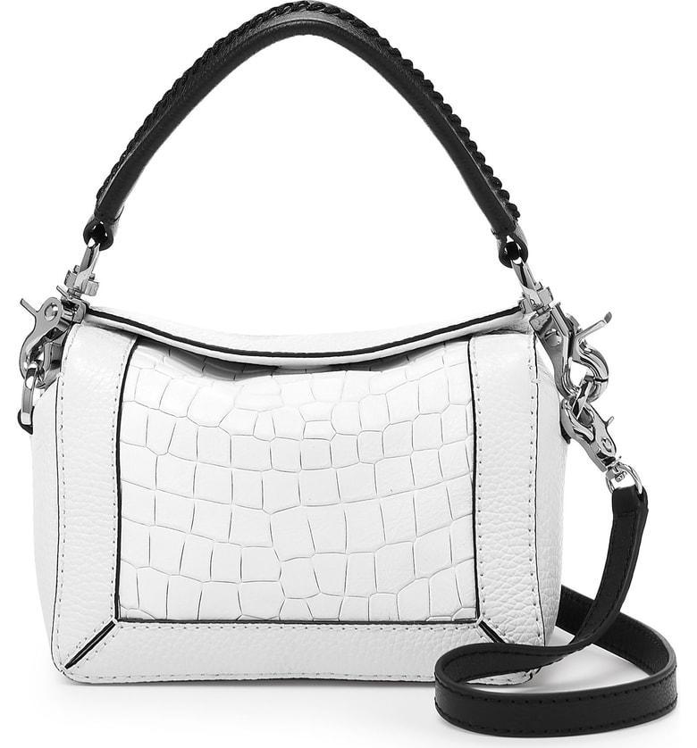 6c47fb3296b65d Botkier Small Barrow Leather Crossbody Bag - White In White Croco ...
