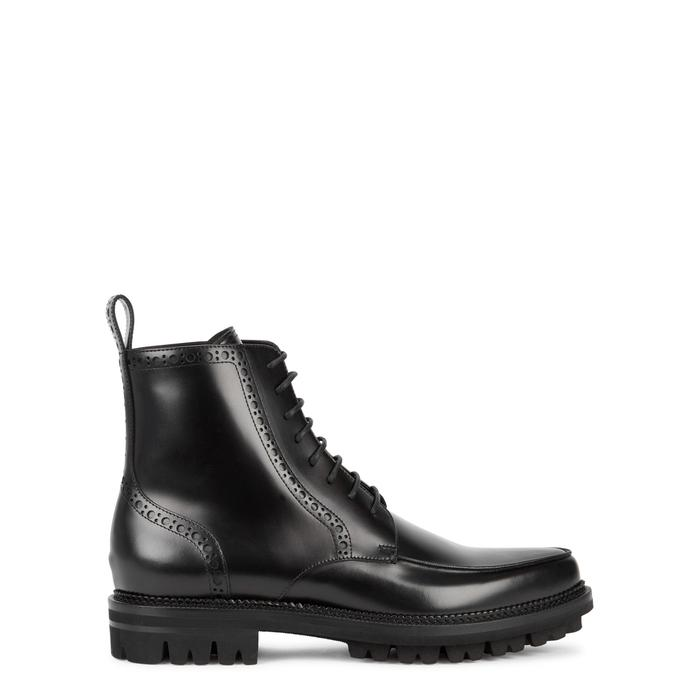 9ec3f732ce1b37 Dsquared2 Black Leather Boots In 2124 Black | ModeSens