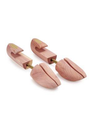 Saks Fifth Avenue Wooden Shoe Trees In Cedar
