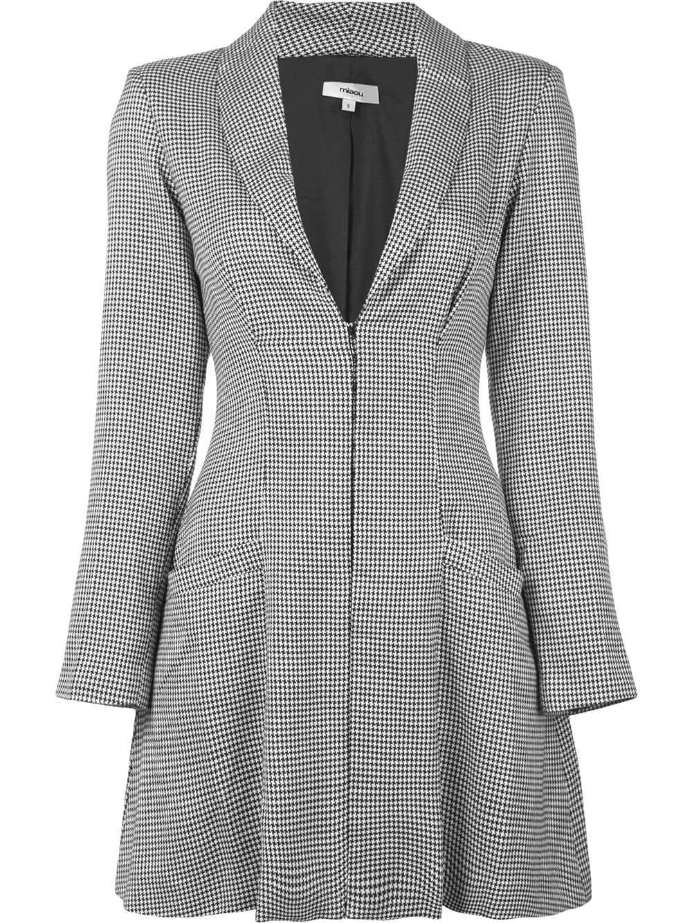 1f80ee31cd0d0 Miaou Checked Blazer Dress - Black   ModeSens