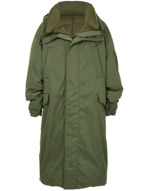 Juun.J Oversized Padded Coat In Green