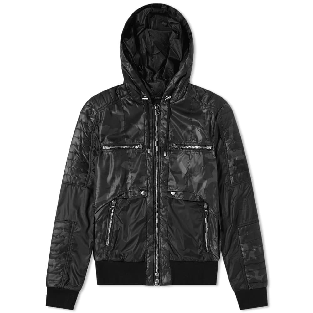 3fd877d24dc1f Balmain Hooded Camo Zip Biker Jacket In Black | ModeSens