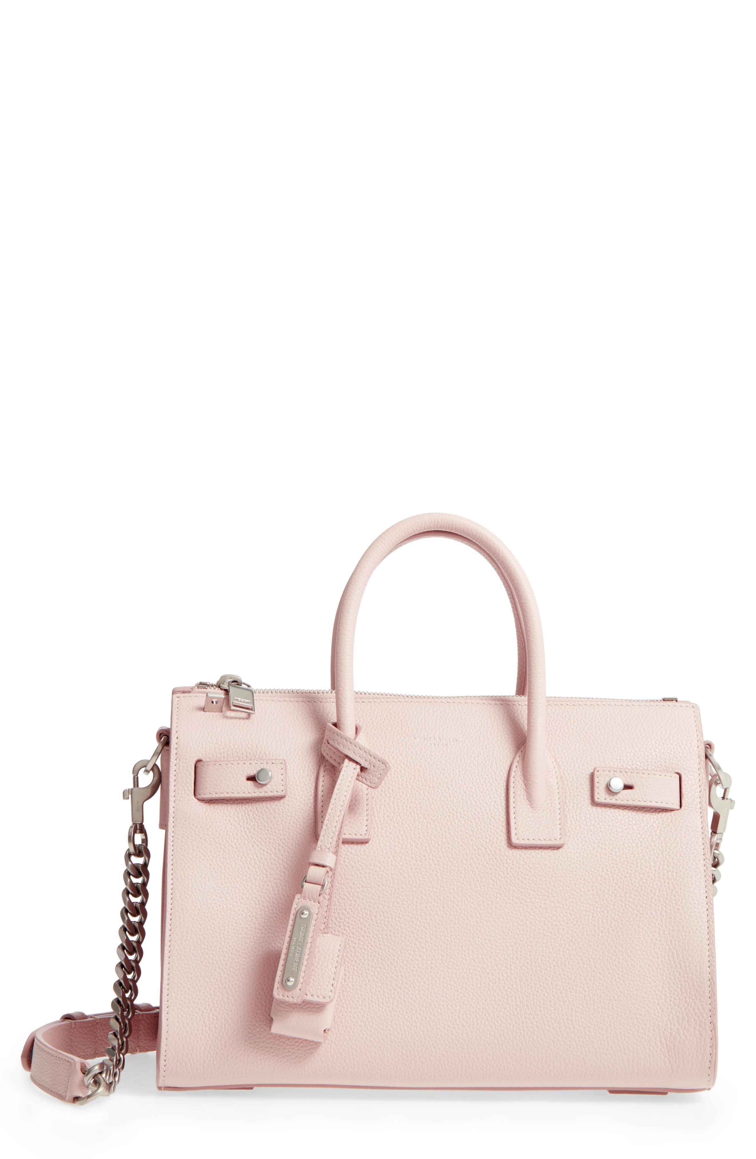 c04be1c41271 Saint Laurent Sac De Jour Baby Supple Bonded Carryall Tote Bag In Marble  Pink