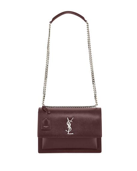 516d028e95 Saint Laurent Sunset Large Monogram Ysl Crossbody Bag In Burgundy ...